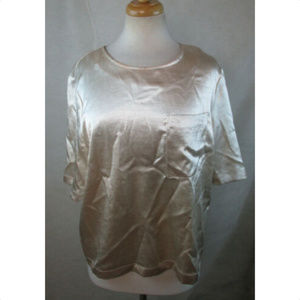 WHO WHAT WEAR Womens Pocket Blouse Top, Size M